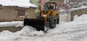 Şemdinli'de kar temizleme çalışması