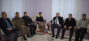 İscehisar kaymakamından Kayseri gazisine ziyaret