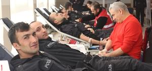 Karaman'da polis adayları kan bağışında bulundu