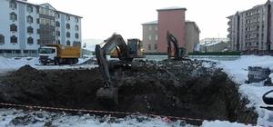 Eksi 30 derecede okul inşaatının temelini attılar