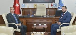 Vali Tapsız'dan Rektör Akgül'e iade-i ziyaret