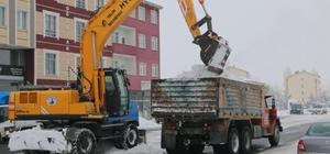 Selim Belediyesi'nin karla mücadelesi