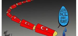 Türkiye gündemini çizgilerle anlattı