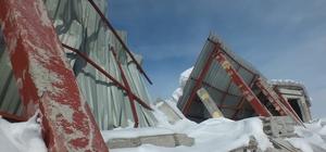 Milyonluk tesisin sağım ünitesi yıkıldı