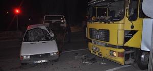 Kulu'da tır ile otomobil çarpıştı: 1 yaralı