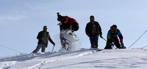 """Rize'de """"lazboard""""lu kayak şenliği"""
