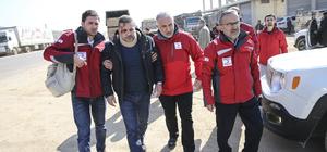Yaralanan Suriye Arap Kızılayı yetkilisi Türkiye'ye getirildi