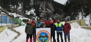 Giresun'da gezginlerden 'kış yürüyüşü' etkinlikleri