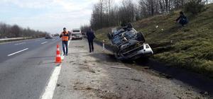 TEM Otoyolu'nda trafik kazası: 2 yaralı