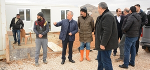 Başkan Acar konut inşaatı alanında incelemelerde bulundu