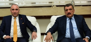 BİRKONFED Genel Başkanı Ünsal, Başkan Gürkan'ı ziyaret etti