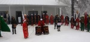 Muratdağı Termal Kayak Merkezi'nde mehter gösterisi