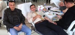 Aslanapa'da Türk Kızılayı'na kan desteği