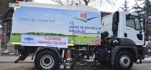 Seyitgazi Belediyesi'ne yol süpürme ve temizleme aracı