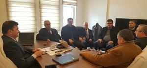 STK temsilcilerinden Müdür Ayhan'a ziyaret