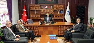 İlçe ve belde belediye başkanlarından Rektör Şengör'e hayırlı olsun ziyareti