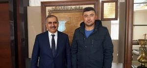 El Bab gazisi Aydınlı askerden Vali Koçak'a ziyaret