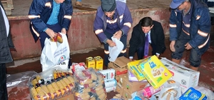Lapseki Belediyesi'nden depremzedelere yardım