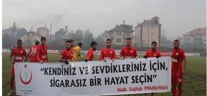 Bartınsporlu futbolculardan anlamlı pankart