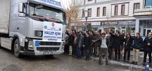 Karakoçan'dan Halep'e 1 tır ve 2 kamyonet dolusu yardım