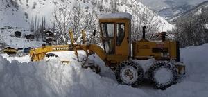 Artvin'de 55 kişilik karla mücadele timi gece gündüz görev yapıyor