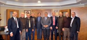 Kayseri'nin ilçe başkanlarından Başkan Özgüven'e ziyaret