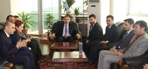 Türk-Eğitim-Sen'den Rektör Biber'e tebrik ziyareti