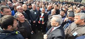 Başkan Kocaoğlu'dan İZBETON personelinin ailesine başsağlığı