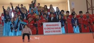 Ardahan Belediyesi Kış Güneşi Halk Oyunları Gençlik ve Spor kulübü rüzgarı esti