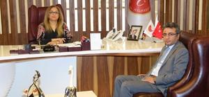Derinkuyu Kaymakamı Öztürk Rektör Kılıç'ı ziyaret etti