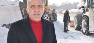 Hasköy'de karla mücadele çalışması