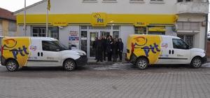 Gemerek PTT'de posta ve kargo araçları yenilendi