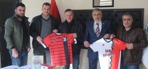 İnönü Spor Kulübü'nden Başkan Bozkurt'a teşekkür ziyareti
