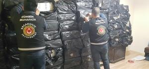 Erzurum'da 52 bin 907 paket kaçak sigara ele geçirildi