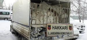 Hakkari'de 75 bin paket kaçak sigara ele geçirildi