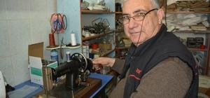 Asırlık dikiş makinelerine 50 yıldır hayat veriyor