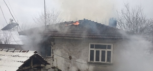 Düzce'de ev yangını