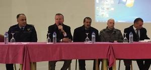 """Dinar'da """"öğrenci taşıma güvenliği"""" toplantısı yapıldı"""
