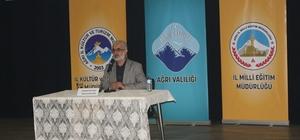 Ağrı'da 'Her Ay Bir Konu, Bir Konuk' konferansı