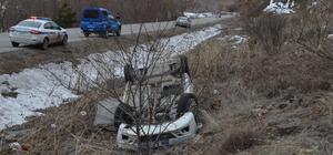 Çankırı'da otomobil devrildi: 4 yaralı