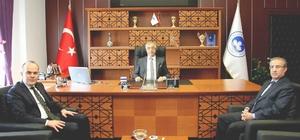 Kırklareli Üniversitesi Rektörü Prof. Dr. Bülent Şengörür'e hayırlı olsun ziyareti