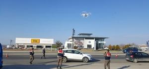 Kontrolden kaçan sürücülere drone denetimi