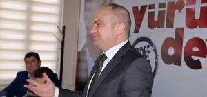 Berk Mersinli Gördes'te partililerle buluştu