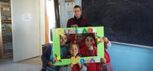 Kilis Belediyesi Konak çalışanları köy okulunu ziyaret etti