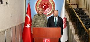 Tümgeneral Özkara, Vali Ustaoğlu'nu ziyaret etti