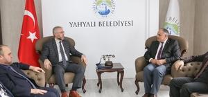 İl Müftüsü Şahin Güven Yahyalı Belediyesini ziyaret etti