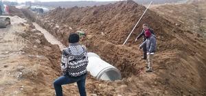 Karaman'da yağmur suyu kollektör hattı yapımı başladı