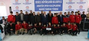 Amatör kulüplere Büyükşehir desteği sürüyor