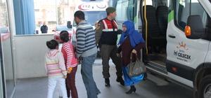 Serik'te kaçak göçmen operasyonu