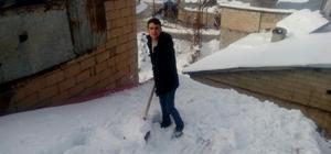 Çatılarda kar temizliği